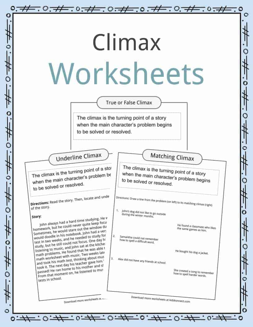 Climax Worksheets