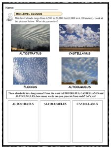 Worksheet Pack 1: Cloud Facts.