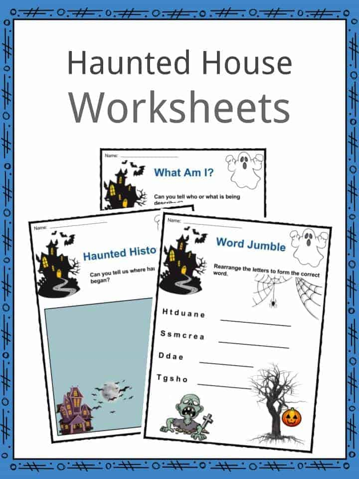 Haunted House Worksheets