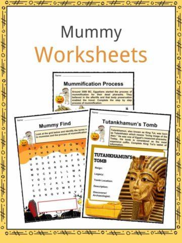 Mummy Worksheets