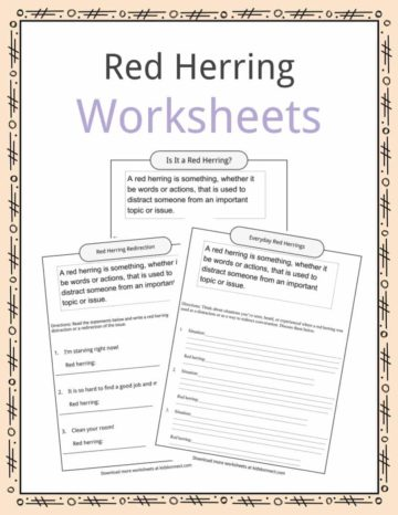 Red Herring Worksheets