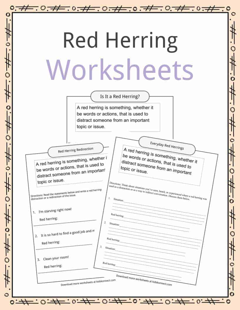 worksheet Poetic Devices Worksheet High School red herring definition worksheets facts examples for kids download the worksheets