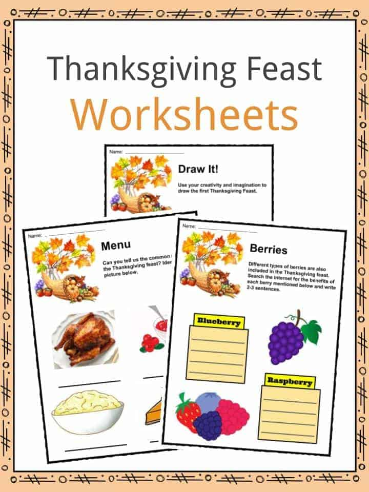 Printable Worksheets thanksgiving science worksheets : Thanksgiving Feast Facts, Worksheets & Complete History For Kids
