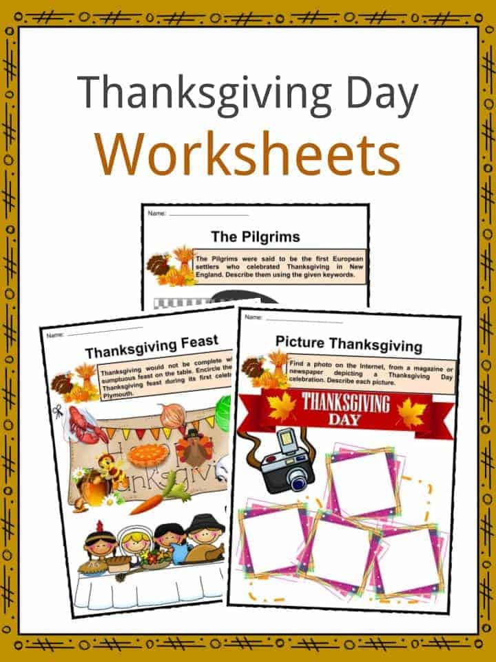 Thanksgiving Facts, Worksheets, Information & History For Kids