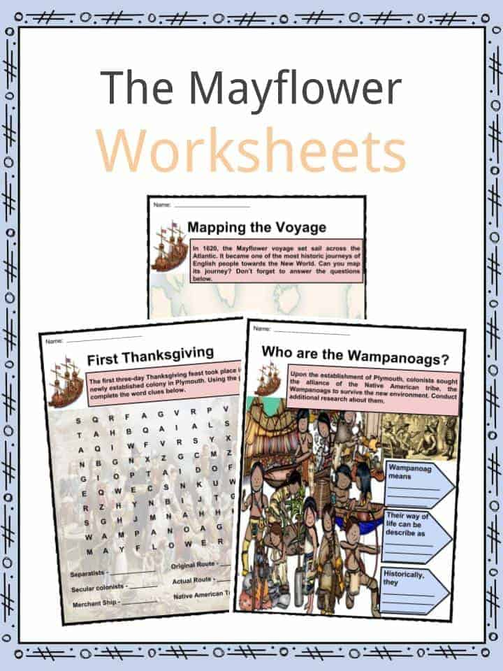 The Mayflower Facts Worksheets Information Importance For Kids