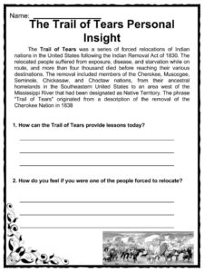 trail of tears facts information worksheets kids teaching resources. Black Bedroom Furniture Sets. Home Design Ideas