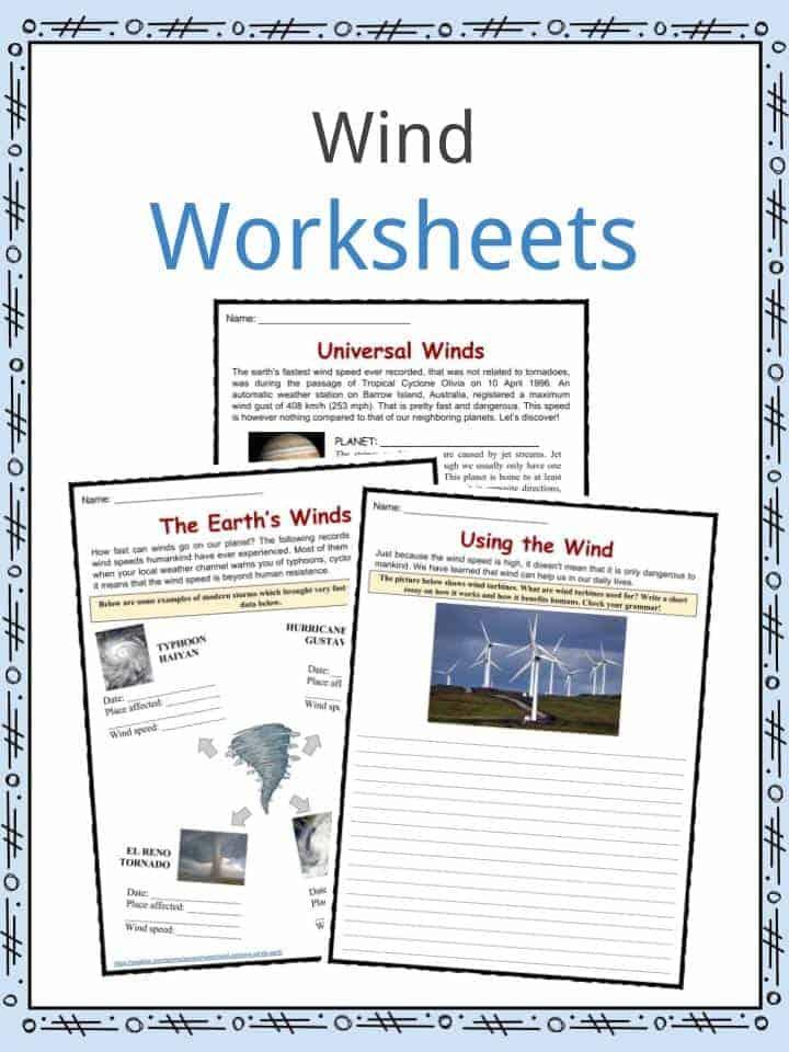 Wind Worksheets
