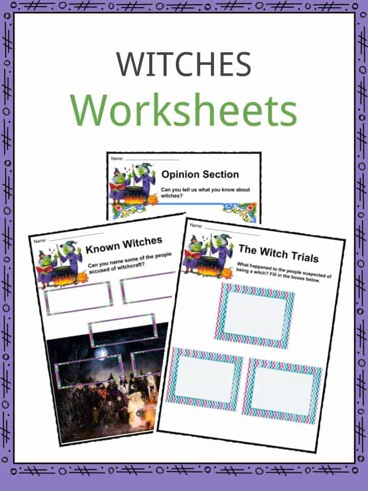 Witches Worksheets