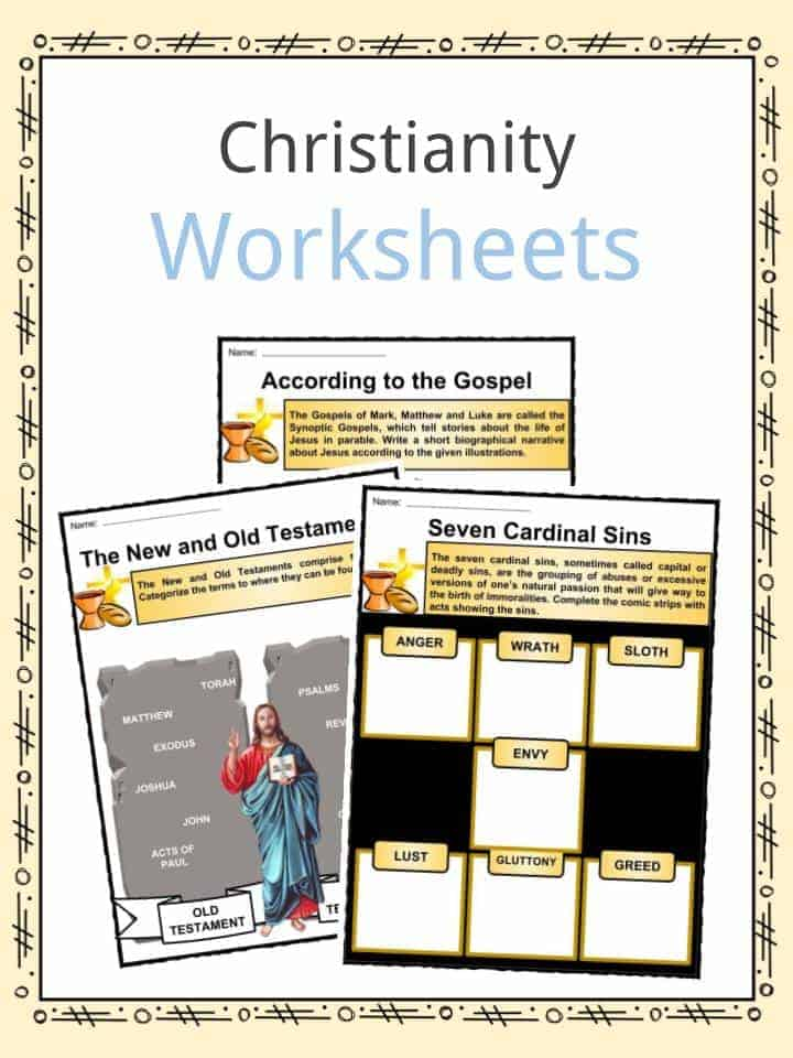Christianity Facts, Worksheets & Religion History For Kids