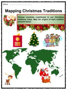 christmas traditions facts worksheets history over time for kids. Black Bedroom Furniture Sets. Home Design Ideas
