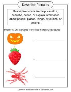 Descriptive Words Examples, Definition & Worksheets For Kids