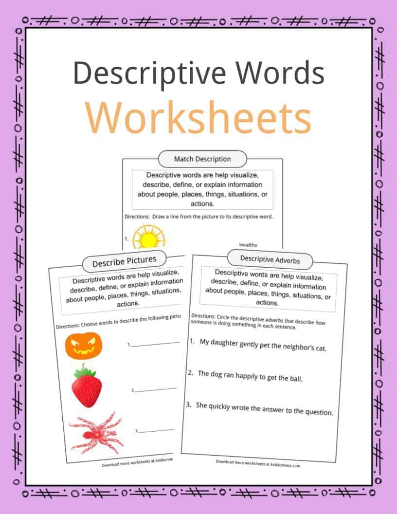 worksheet Trail Of Tears Worksheet descriptive words examples definition worksheets for kids download the worksheets