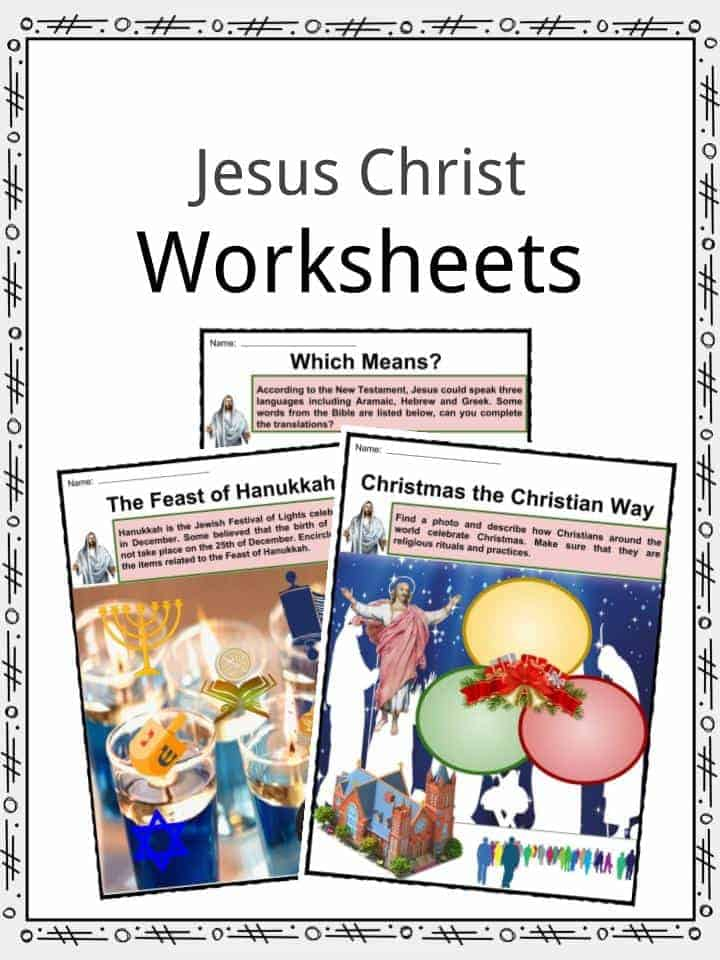 Jesus Christ Worksheets
