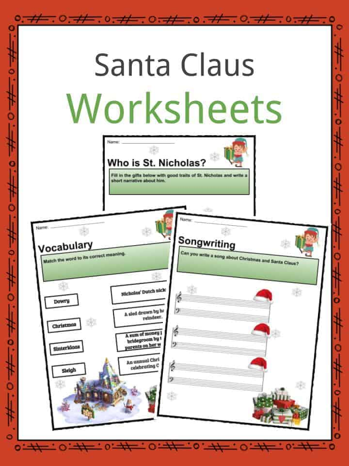 Santa Claus Worksheets