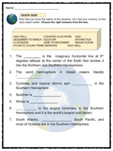 Southern Hemisphere Facts, Worksheets & Latitude Information For Kids
