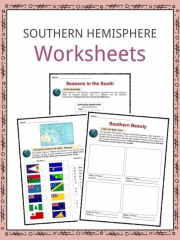 Southern Hemisphere Worksheets