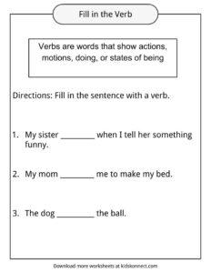 Fun with Verbs Worksheet | teach | Pinterest | Worksheets, Verb ...