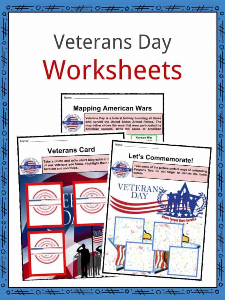 Veterans' Day Worksheets