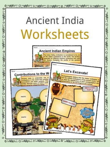 Ancient India Worksheets