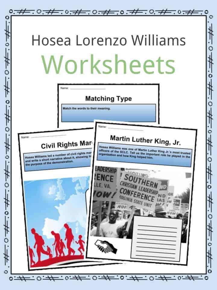 Hosea Lorenzo Williams Worksheets