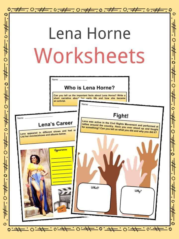 Lena Horne Worksheets