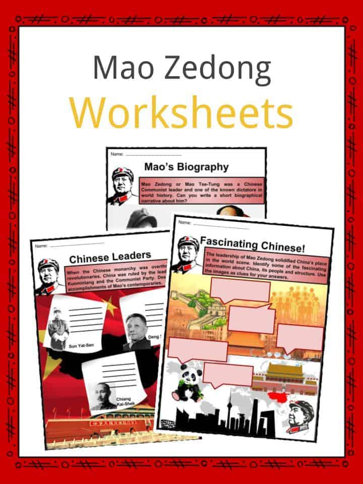 Mao Zedong Worksheets