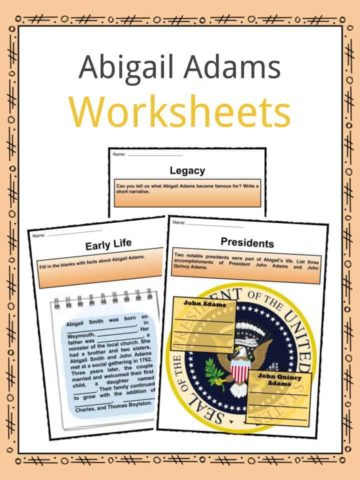 Abigail Adams Worksheets