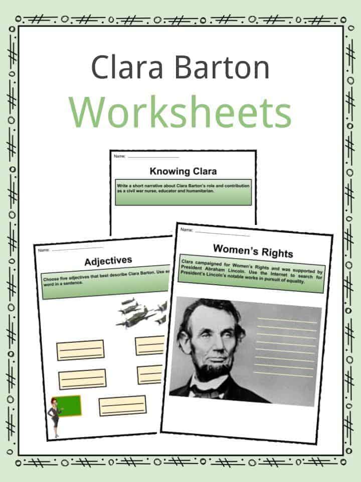Clara Barton Worksheets
