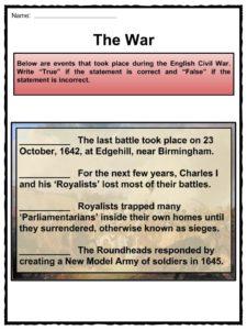 photo relating to Civil War Printable Activities called English Civil War Details, Worksheets, Heritage Value