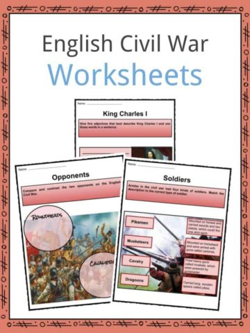 English Civil War Worksheets