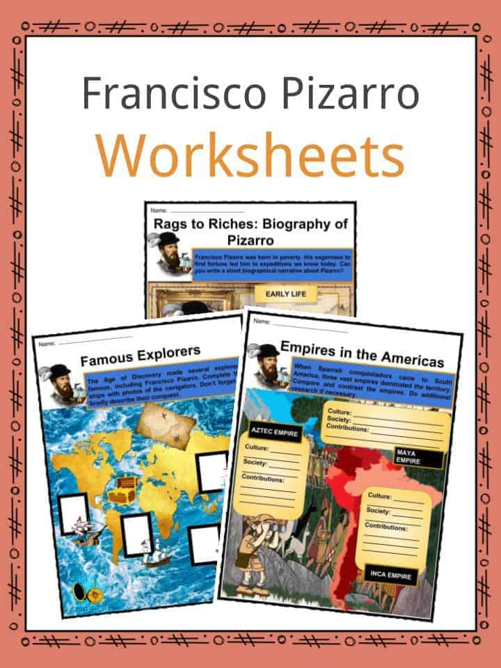 Francisco Pizarro Worksheets