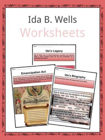 Ida B. Wells Worksheets
