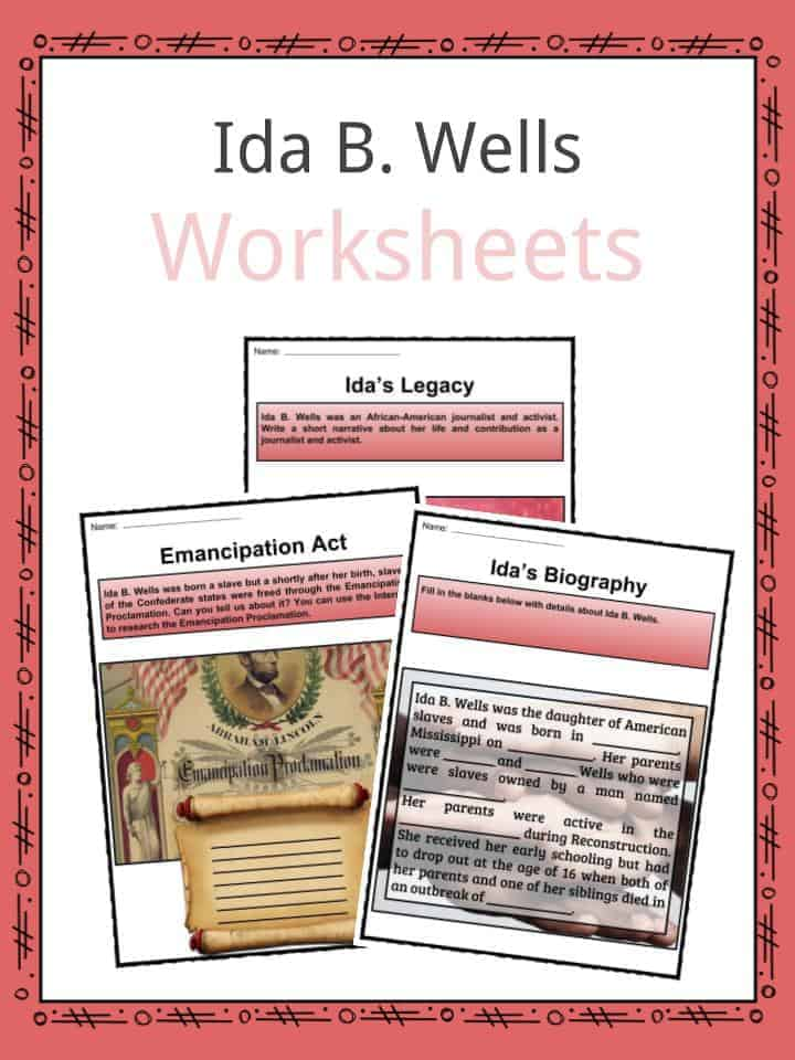 Ida B Wells Worksheets on solar system worksheets for kids