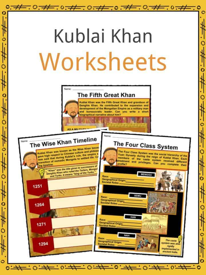 Kublai Khan Worksheets