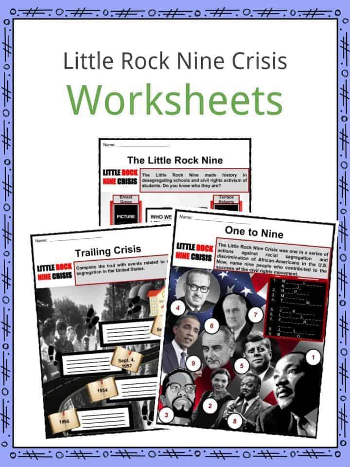 Little Rock Nine Crisis Worksheets
