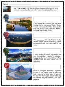 Mississippi River Facts, Worksheets, Length, Size & History For Kids