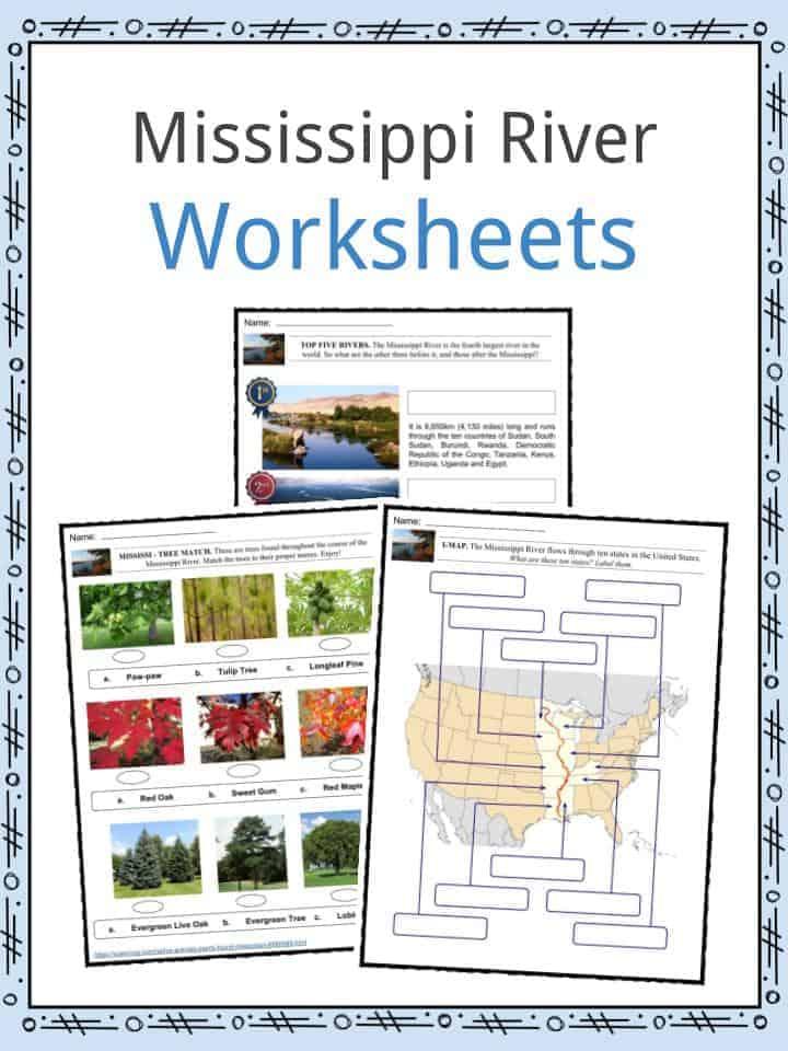 Mississippi River Worksheets