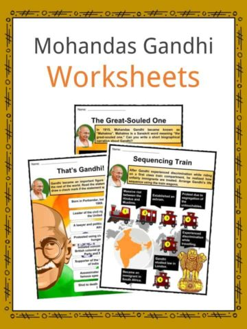 Mohandas Gandhi Worksheets