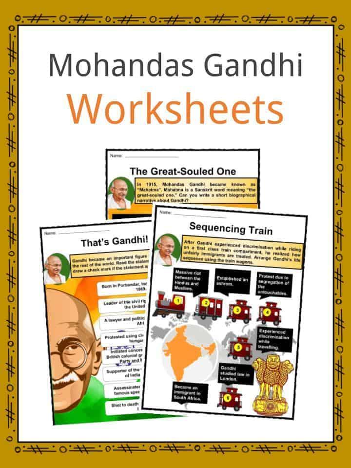 mahatma gandhi facts  worksheets  career  activism  u0026 death