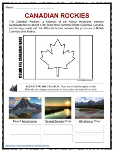 rocky mountains facts worksheets inhabitants history for kids. Black Bedroom Furniture Sets. Home Design Ideas
