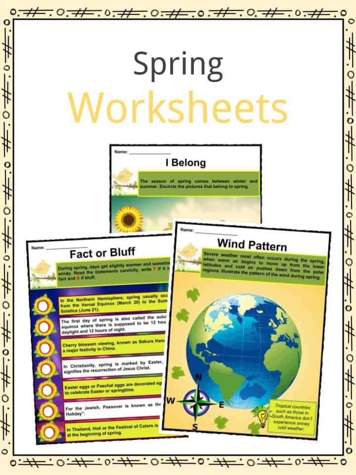 Spring Facts, Worksheets & Historical Information For Kids