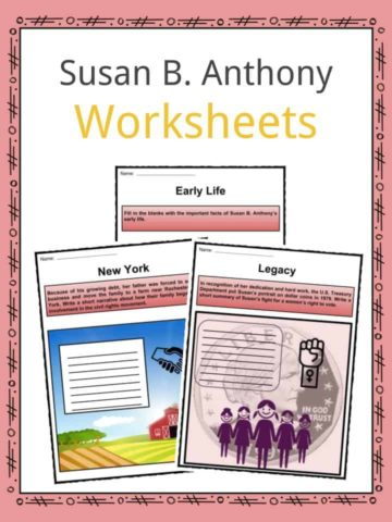 Susan B. Anthony Worksheets