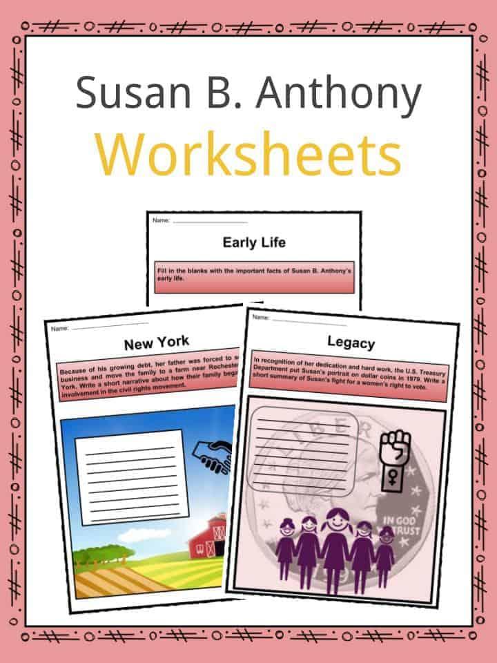 Susan B. Anthony Worksheets