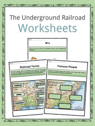 The Underground Railroad Worksheets