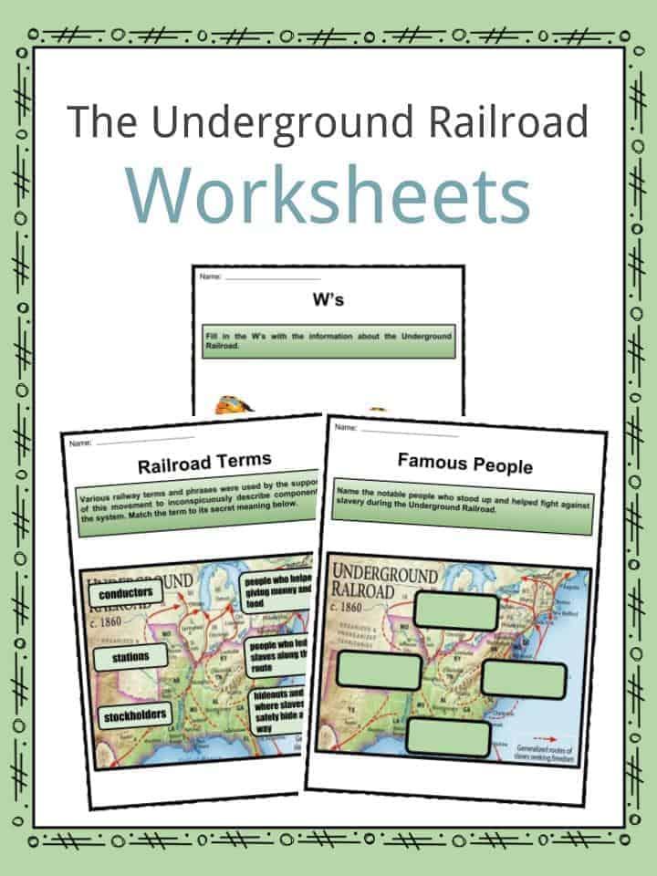 underground railroad worksheets bluegreenish. Black Bedroom Furniture Sets. Home Design Ideas