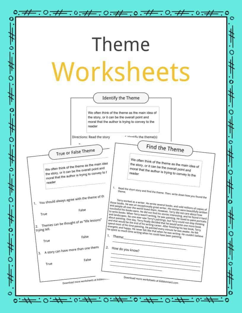 Theme Worksheets, Examples & Description For Kids
