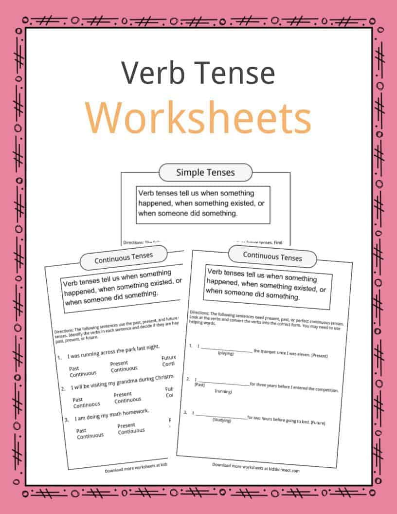 Worksheets Perfect Tense Worksheets verb tense worksheets examples definition for kids download the definition