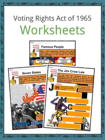 Voting Rights Act of 1965 Worksheets