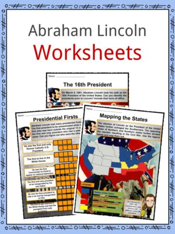 Abraham Lincoln Worksheets