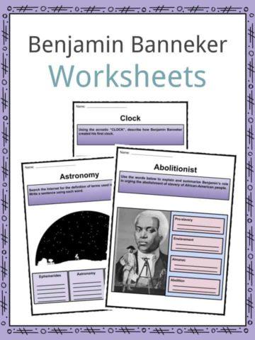 Benjamin Banneker Worksheets